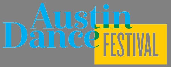 Austin Dance Festival Logo Cyan and Yellow